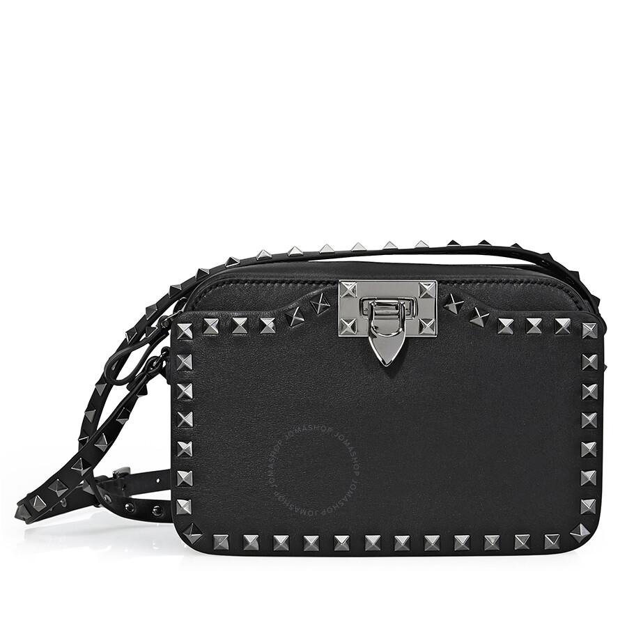 7eaf688361a7 Valentino Rockstud Leather Black Cross Body - Valentino - Handbags ...