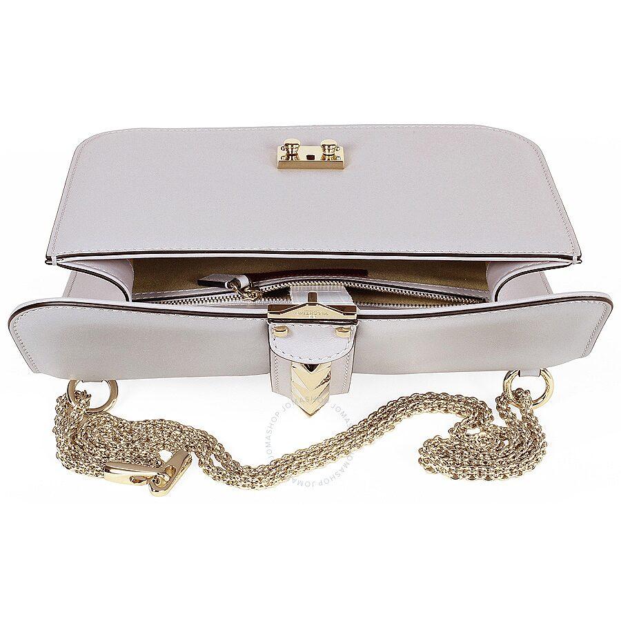 bd0f6c9b7f Valentino Rockstud Lock Medium Leather Shoulder Bag - White ...