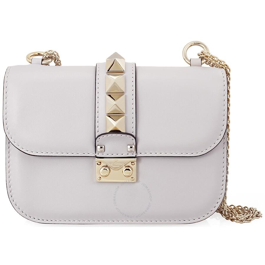 51fa3bae2d Valentino Rockstud Lock Small Leather Shoulder Bag - Pastel Item No.  LW0B0312VIT-PR6