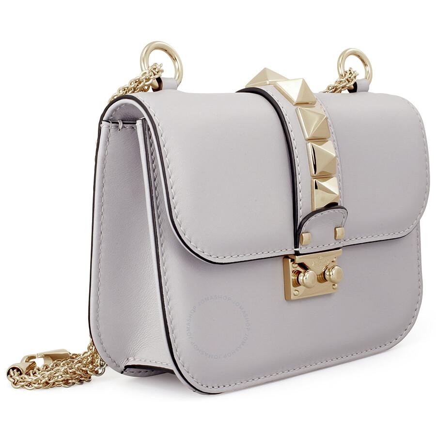Valentino Rockstud Lock Small Leather Shoulder Bag Pastel