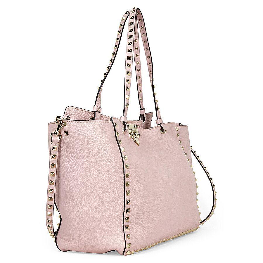 ce80d87d9e0 Valentino Rockstud Medium Pebbled Leather Tote Bag - Light Pink ...