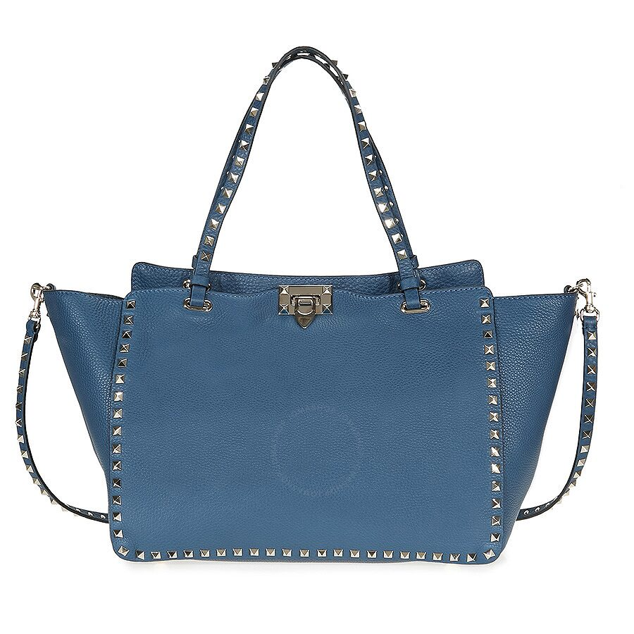 729ad07f37 Valentino Rockstud Medium Tote - Peacock Blue - Valentino - Handbags ...
