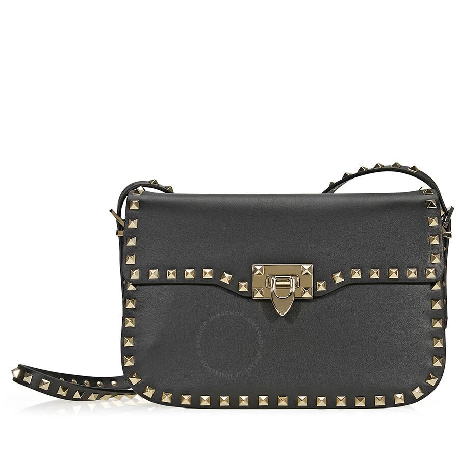 Valentino Rockstud Shoulder Bag Black