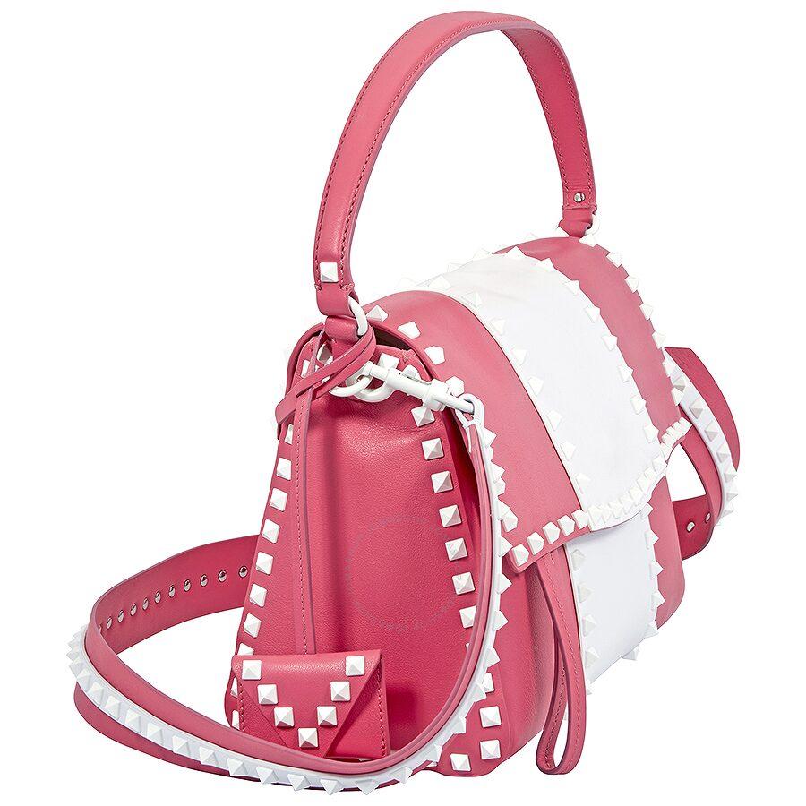 80ff83d5916 Valentino Rockstud Shoulder Bag- Bright Pink - Valentino - Handbags ...