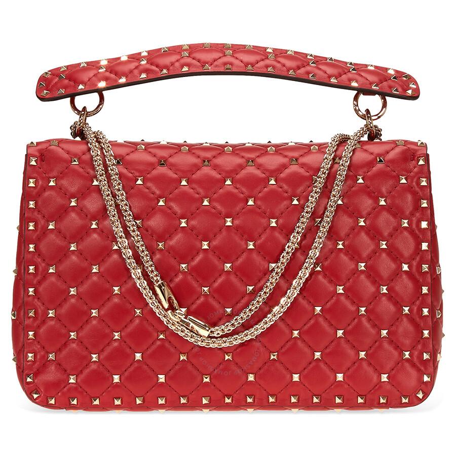 Valentino Rockstud Shoulder Bag Red