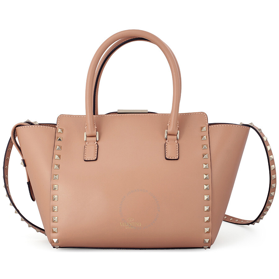 82da7e6625 Valentino Rockstud Small Double Handle Leather Tote Bag - Nude Item No.  LW0B0540BOL-N33. 0 star rating Write a review