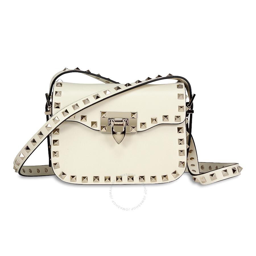 59640beeee Valentino Rockstud Small Leather Shoulder Bag - Ivory Item No.  KW0B0937BOL-I16