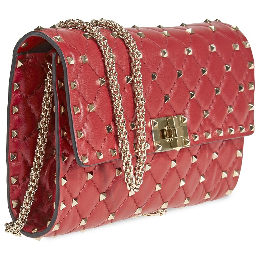 ce1ab17a189 Valentino Rockstud Spike Crossbody Bag- Red - Valentino - Handbags ...