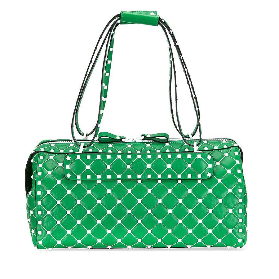fb94835df Valentino Rockstud Spike Duffle Bag - Green - Valentino - Handbags ...