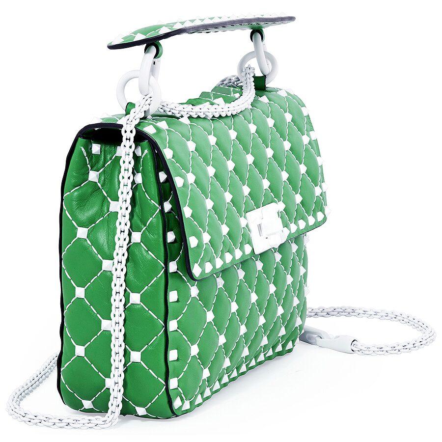 8a823b6cc9 Valentino Rockstud Spike Medium Shoulder Bag- Green - Valentino ...