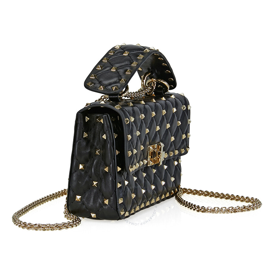 6fa5e49098f Valentino Rockstud Spike Small Chain Bag - Black - Valentino ...