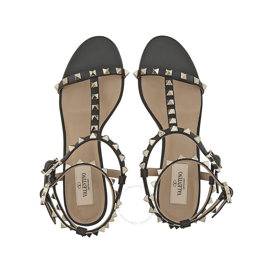 bc5861c3521 Valentino Rockstud T-Strap 60mm Sandals- Black Size 38 - Shoes ...