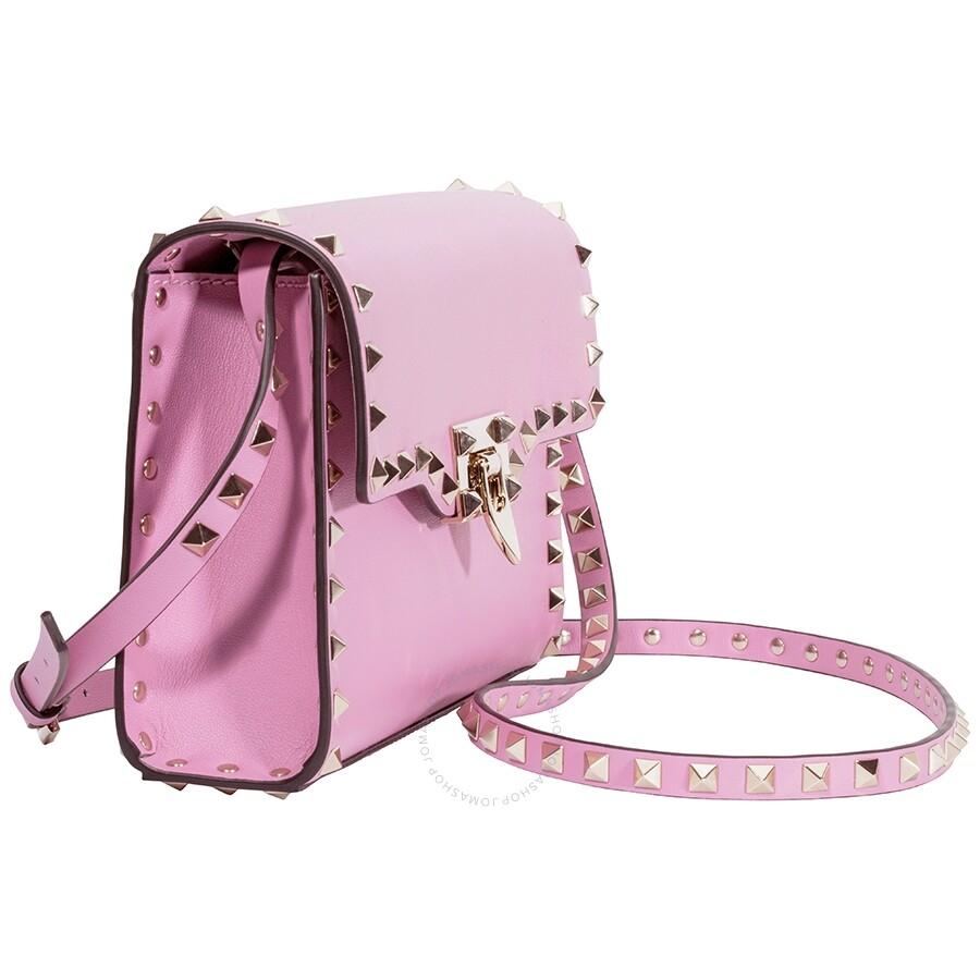 4c00c98aee9 Valentino Small Rockstud Crossbody Bag- Giacinto Pink - Valentino ...