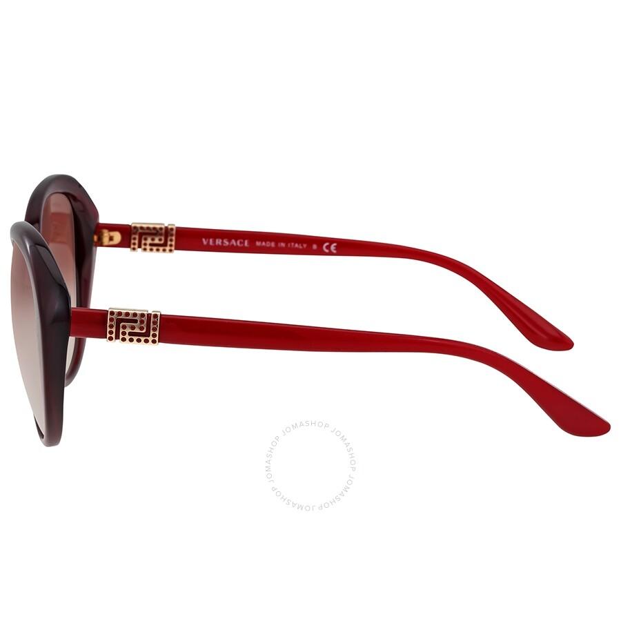 a912a5b4bcf Versace Opal Bordeaux Cat Eye Sunglasses - Versace - Sunglasses ...
