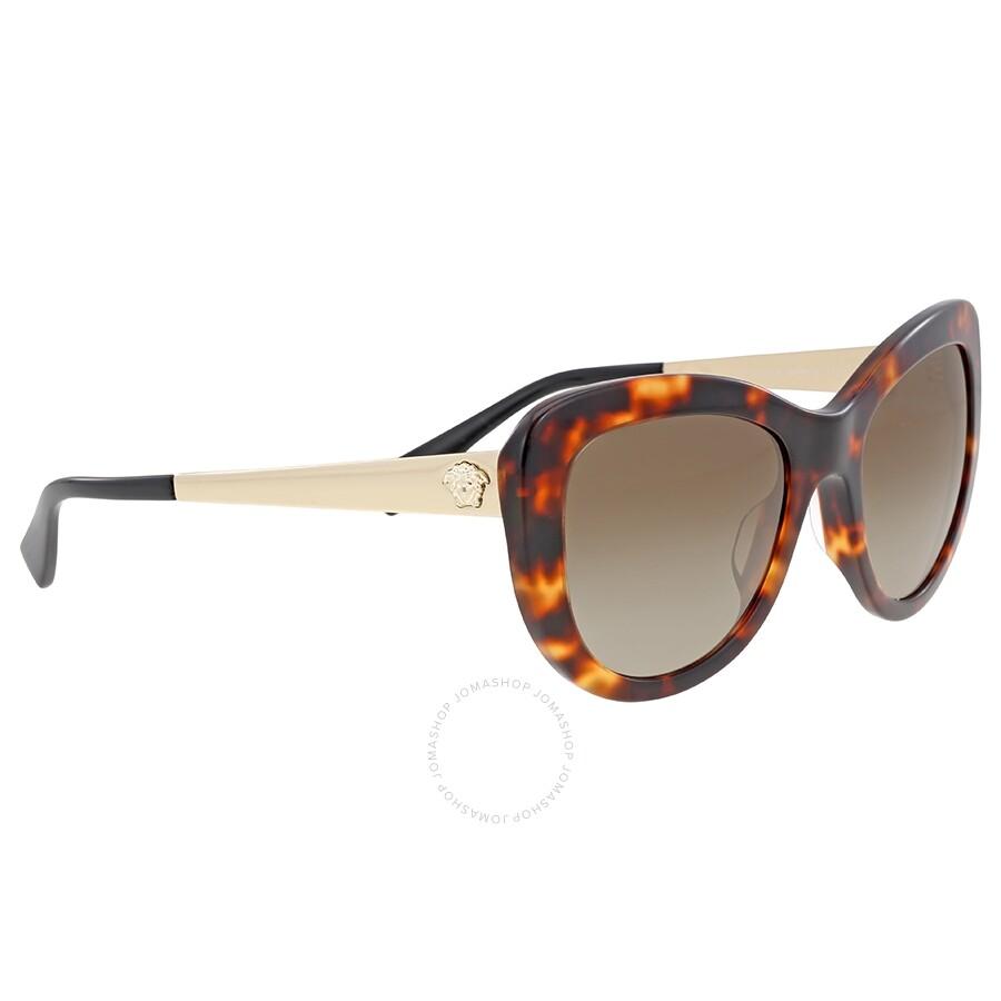 70267251d73a Versace Brown Gradient Cat Eye Sunglasses Versace Brown Gradient Cat Eye  Sunglasses ...