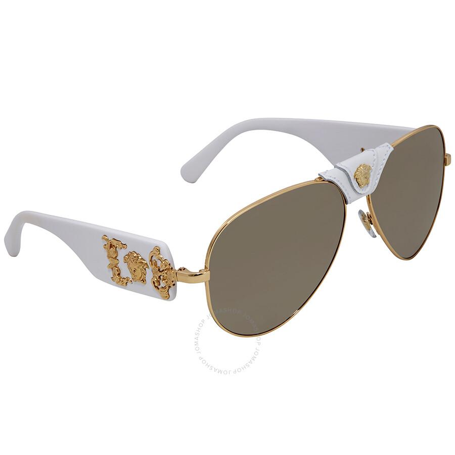 4f2da4f18065 Versace Brown Aviator Men's Sunglasses VE2150Q 13415A 62 - Versace ...