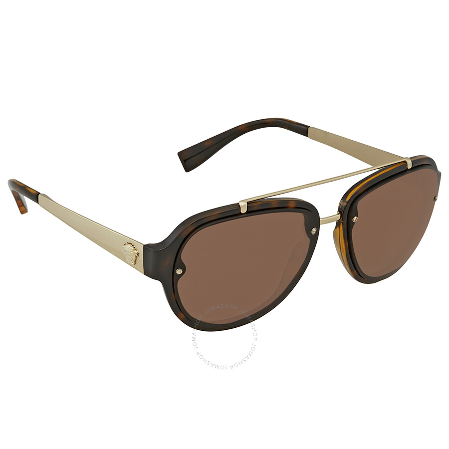 a08dee687ad0 Versace Brown Aviator Sunglasses VE4327 10873 57 - Versace ...