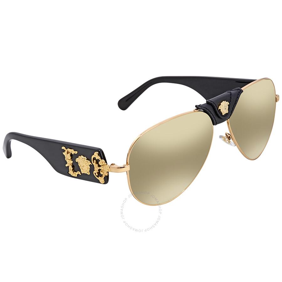 744970c195248 Versace Brown Mirror Aviator Sunglasses VE2150Q 10025A 62 - Versace ...