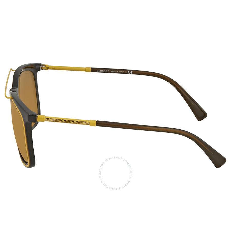 5a40f8050d2f6 Versace Brown Square Sunglasses VE4335 5256F9 56 - Versace ...