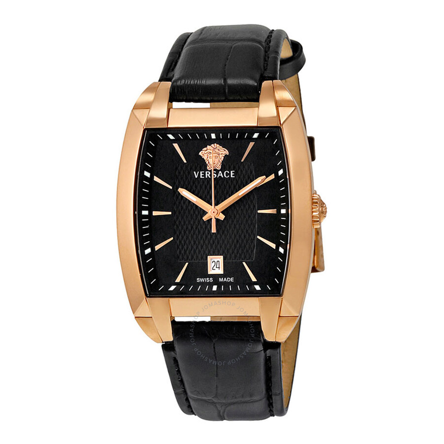 155a17589e8 Versace Character Black Dial Rose Gold IP Stainless Steel Men s Watch  WLQ80D008-S009 ...