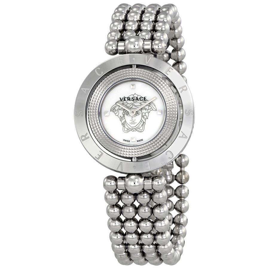 Versace eon mother of pearl dial ladies watch v79090017 versace watches jomashop for Mother of pearl dial watch