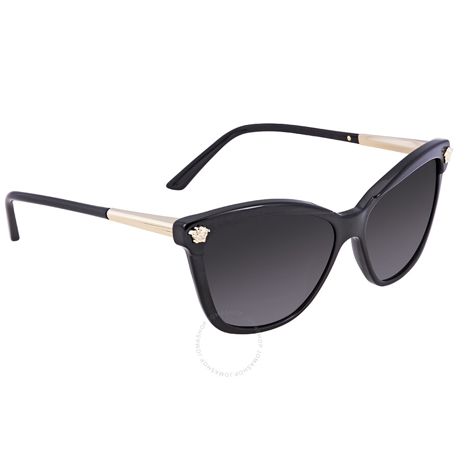 3acc9a86c31 Versace Gray Gradient Cat Eye Ladies Sunglasses VE4313-GB18G-57 ...