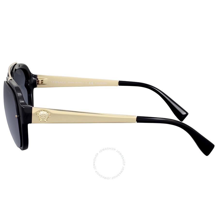 7c4fba6f7212 Versace Grey Gradient Aviator Sunglasses - Versace - Sunglasses ...
