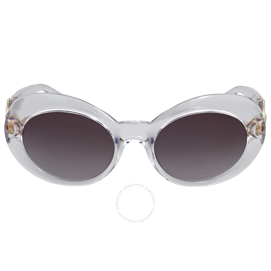 d73238d04a954 Versace Grey Gradient Oval Sunglasses - Versace - Sunglasses - Jomashop
