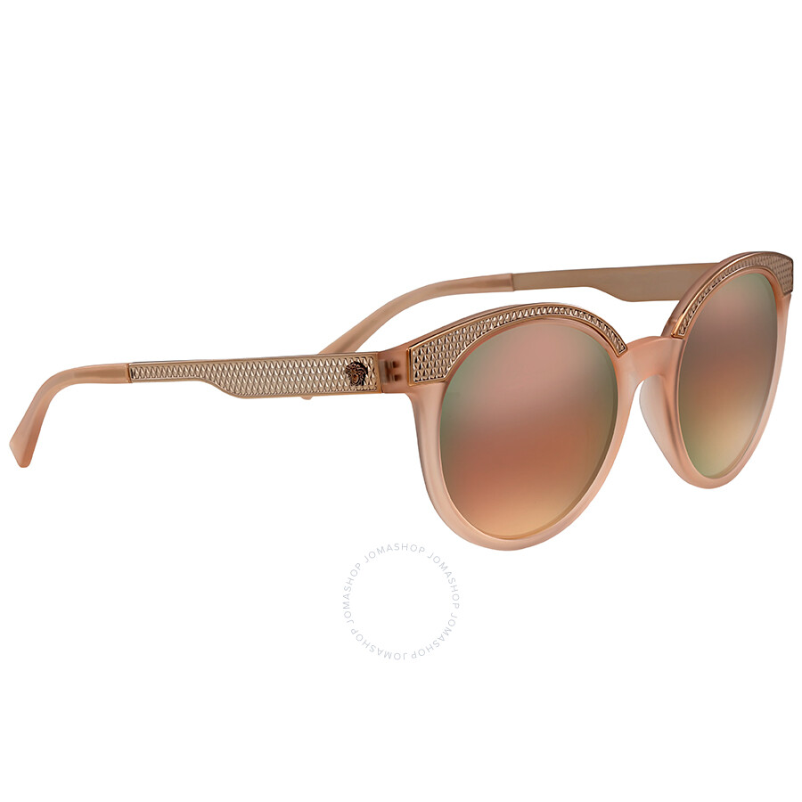 a36eef2bcd122 Versace Grey Mirror Rose Gold Cat Eye Sunglasses - Versace ...