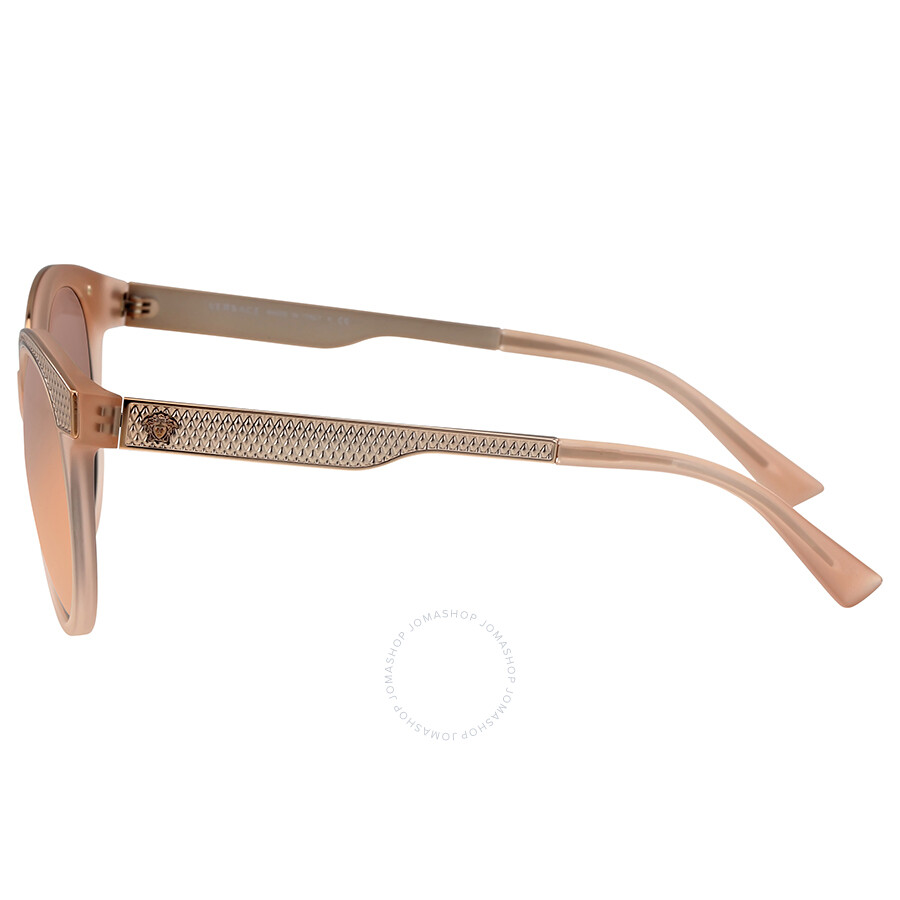 94fe19e756 Versace Grey Mirror Rose Gold Cat Eye Sunglasses - Versace ...