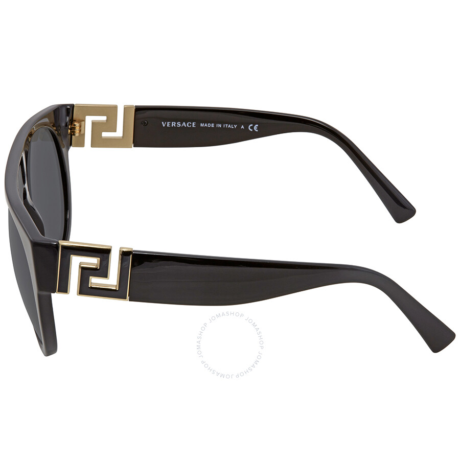 92f3fbc144b8e Versace Grey Round Sunglasses VE4333 GB187 55 - Versace - Sunglasses ...