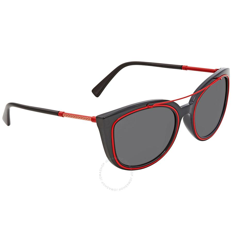 445a310782409 Versace Grey Square Sunglasses VE4336 525587 56 - Versace ...