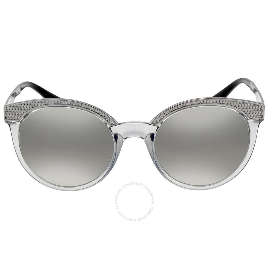 Versace Sunglasses VE 4330 52066V 53 Transparent GreySilver Mirrored Lens