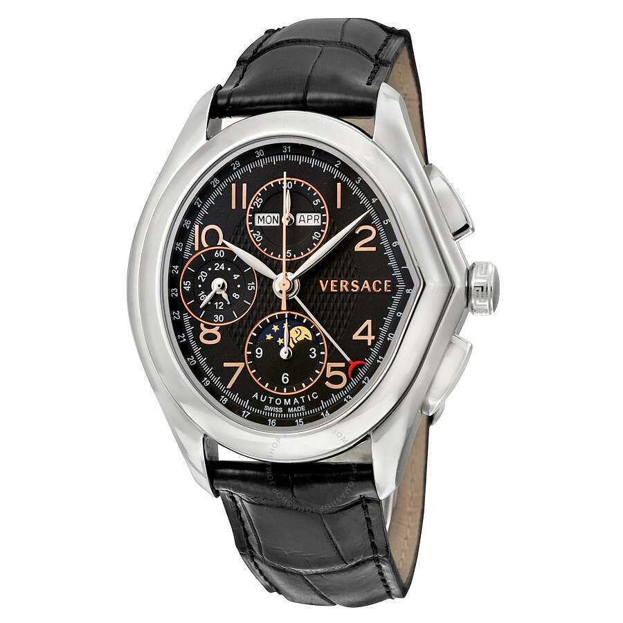 versace watches jomashop versace master black dial black leather men s watch 20a99d009 s009