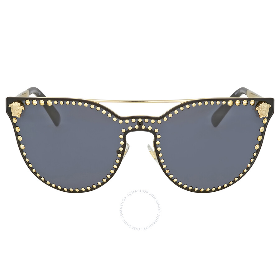 Versace Pale Gold Cat Eye Sunglasses ...