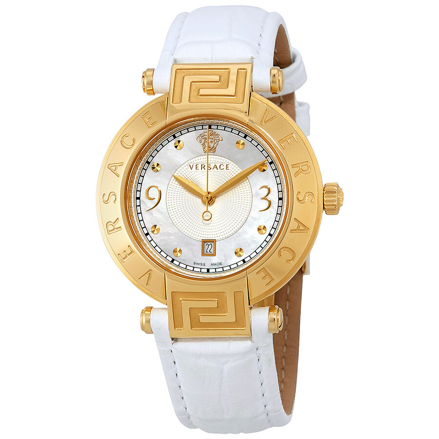 7e603364b Versace Reve White Mother of Pearl Dial Ladies Watch 68Q70D498S001 ...