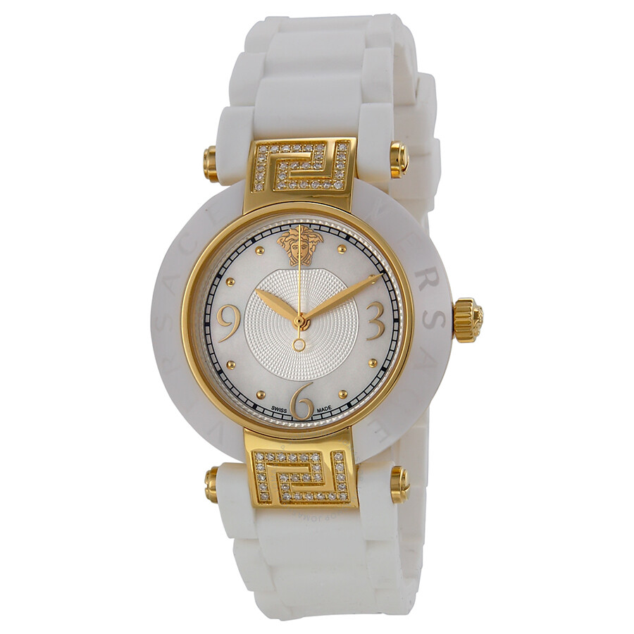 62cf279854 Versace Reve White Mother of Pearl Dial White Ceramic Ladies Watch  92QCP11D497-S001