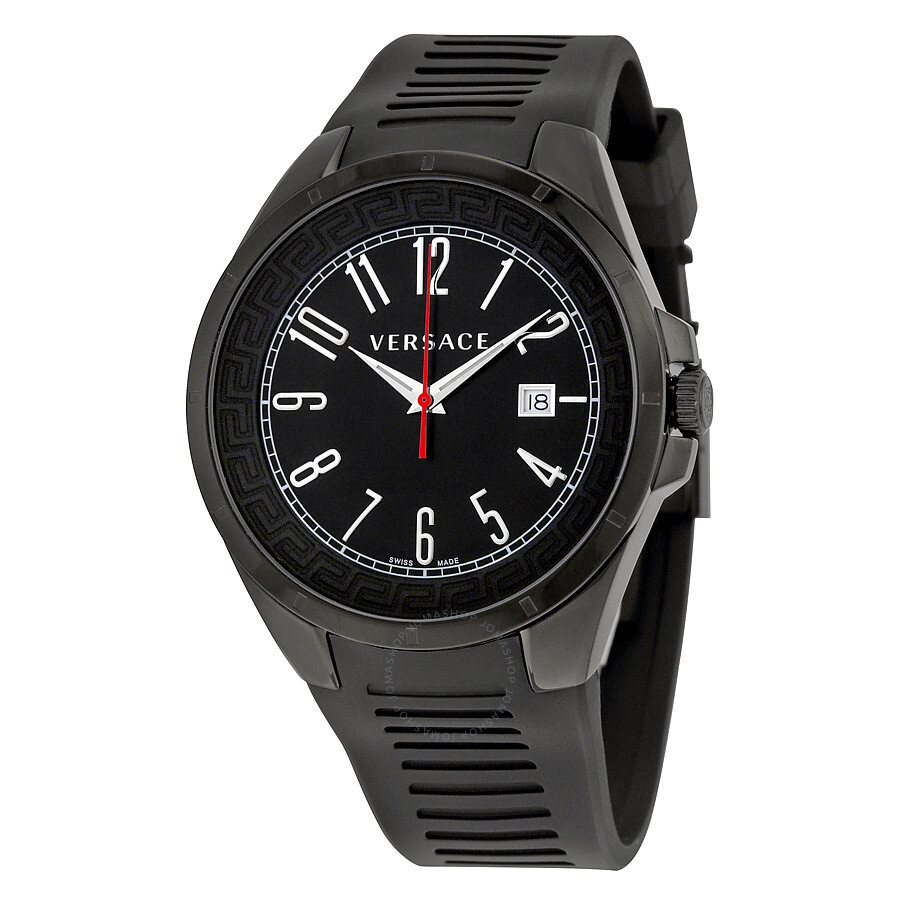 versace v man black dial black rubber strap men s watch p7q60d009 versace v man black dial black rubber strap men s watch p7q60d009 s009