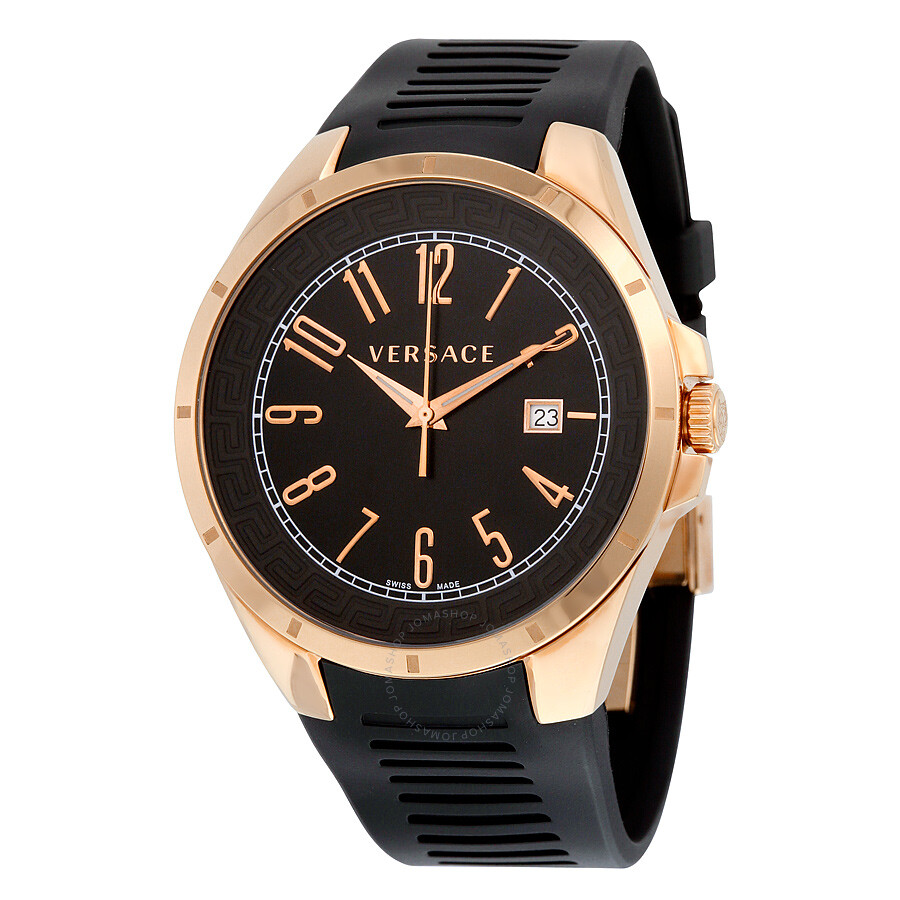 916d02bef8 Versace V-Man Black Dial Rubber Strap Men's Watch P7Q80D009 S009