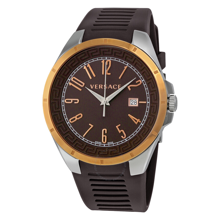 versace watches jomashop versace v man brown dial rubber strap men s watch p7q89d598