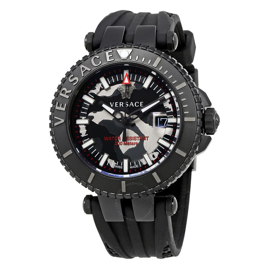 versace v race black camo dial men s watch vak050016 versace versace v race black camo dial men s watch vak050016
