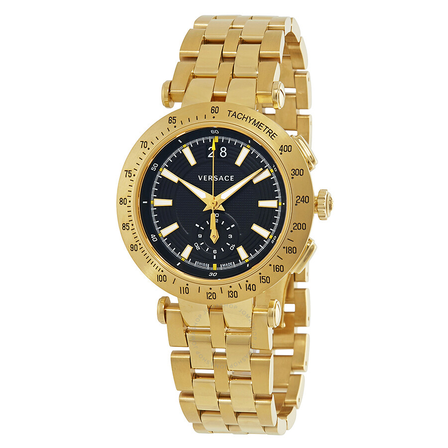 versace watches jomashop versace v race black dial gold tone men s dial