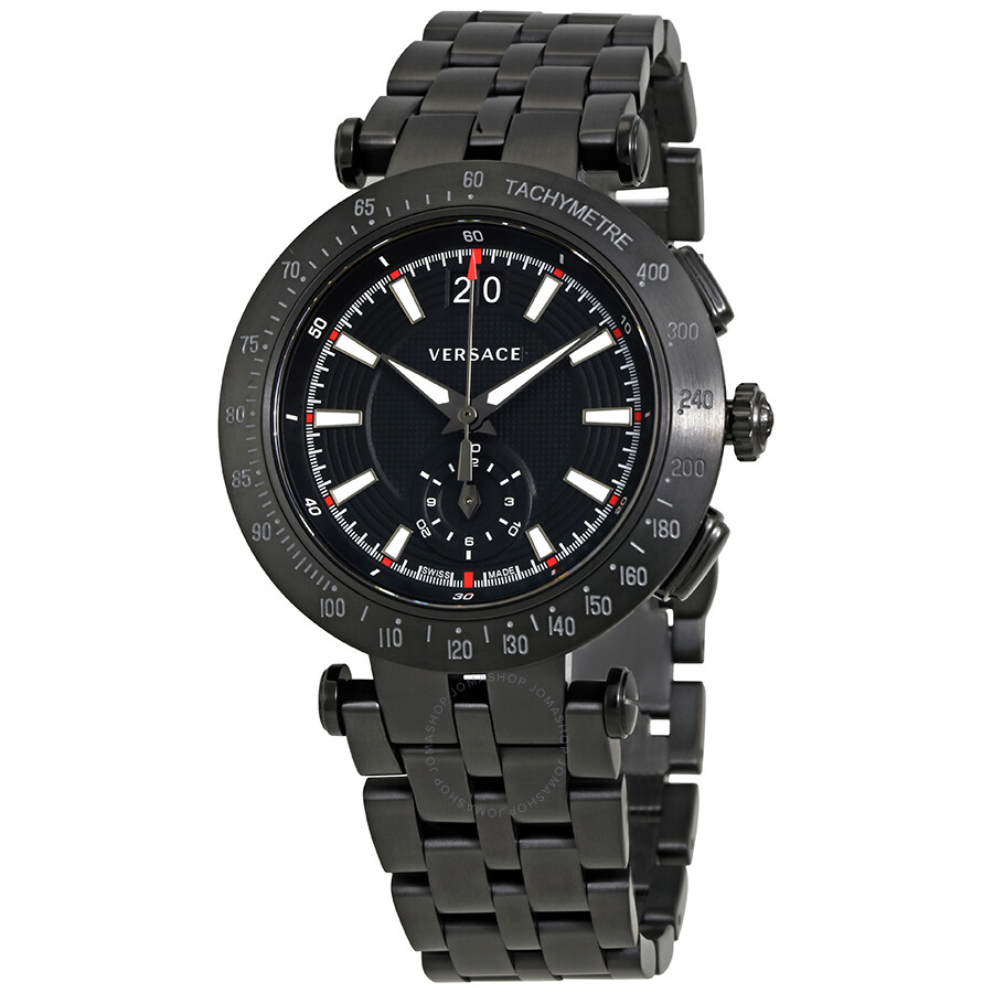 73905e1b7af Versace V-Race Chronograph Black Dial Men s Watch VAH04 0016 ...