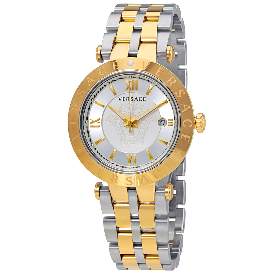 1ce36e99921 Versace V-Race Silver Dial Men s Two Tone Watch VCL110017 - Versace ...