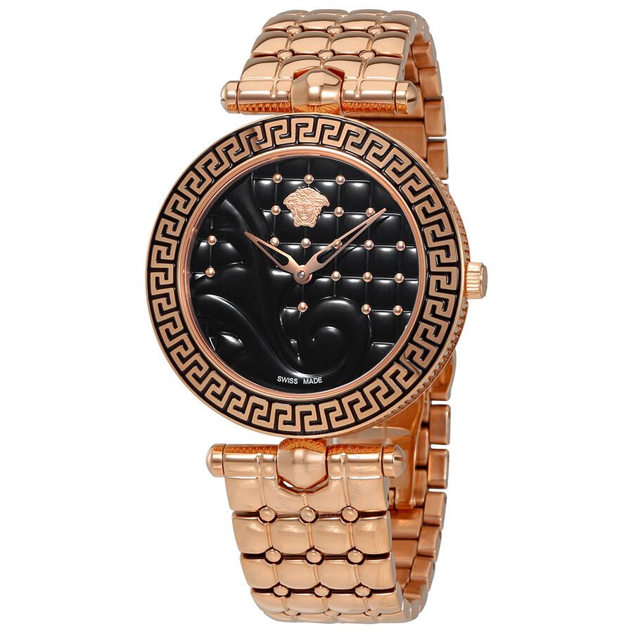 86e1322dfc41 Versace Vanitas Black Quilted Dial Ladies Watch VK7250015 - Vanitas ...