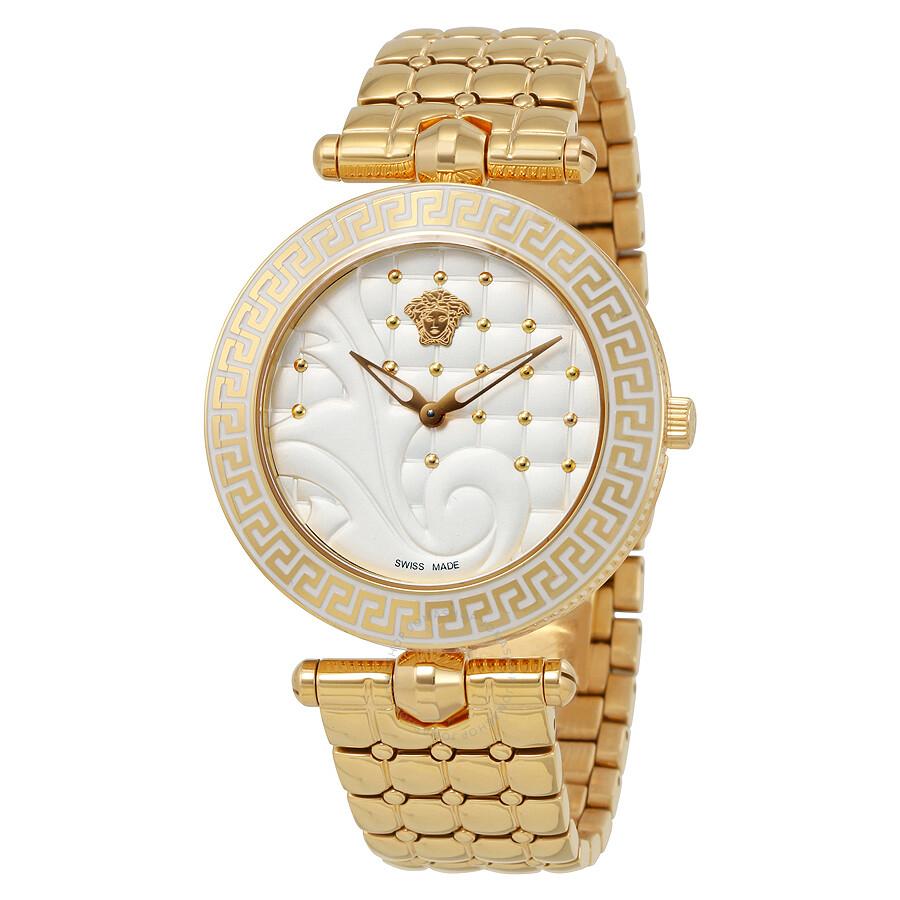 25bd0b81 Versace Vanitas Silver Quilted Dial Rose Gold-tone Ladies Watch VK7240015