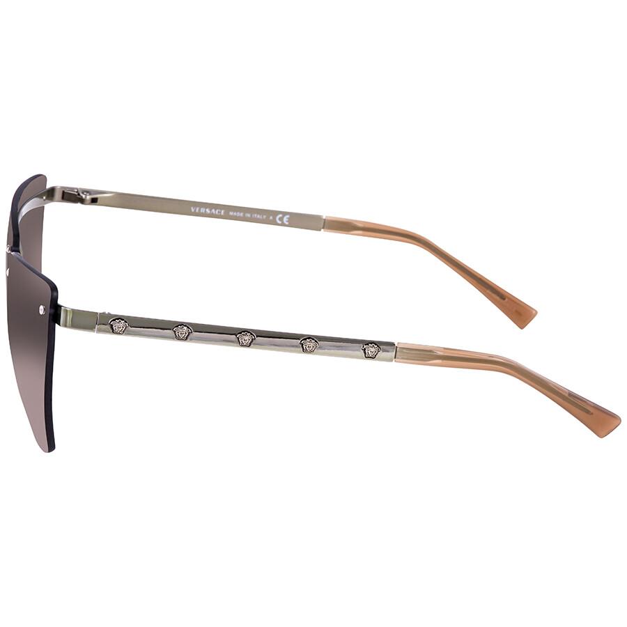 a796d68ab0e ... Versace Violet Gradient Brown Mirror Silver Cat Eye Ladies Sunglasses  VE2190 142694 58