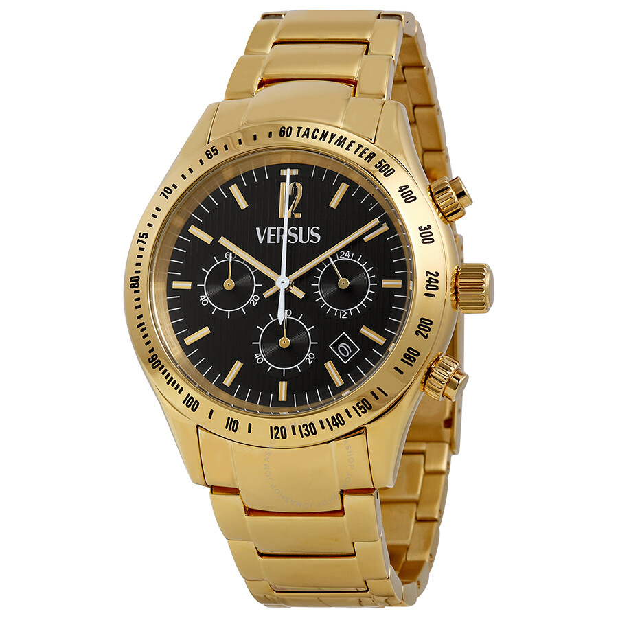 Versus By Versace Cosmopolitan Chronograph Black Dial Gold