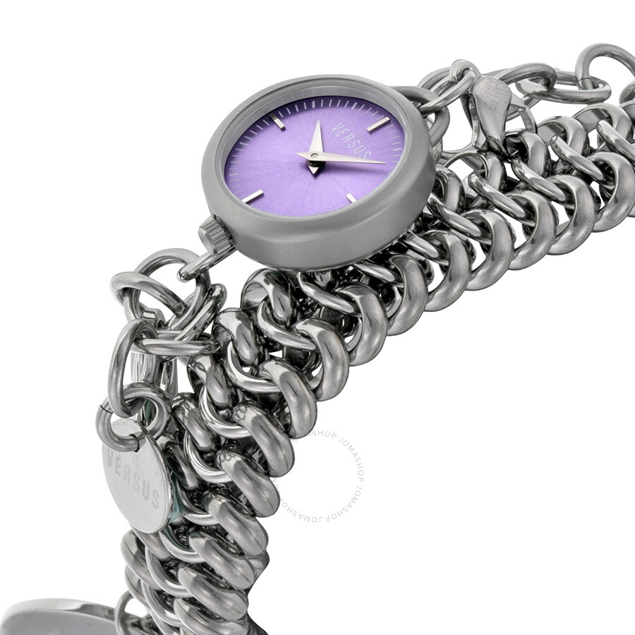 Charm Bracelet Watches: Versus By Versace Soft Double-Tour Charm Bracelet Purple