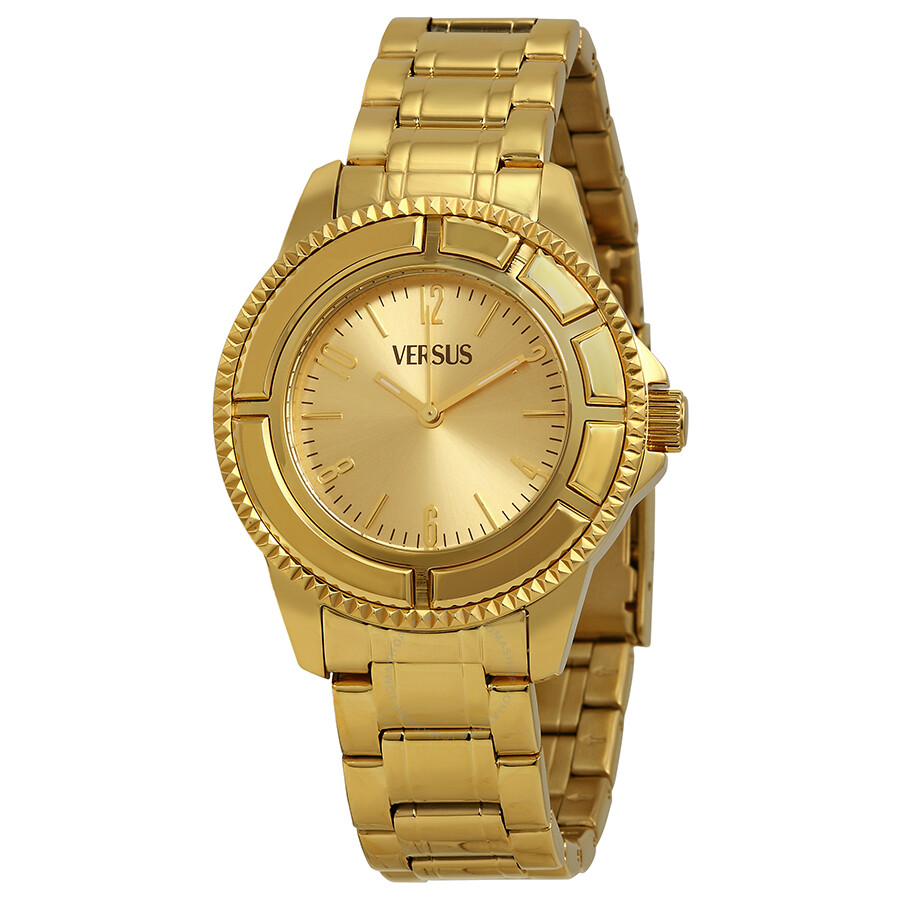 4e4366d37d Versus by Versace Tokyo Gold Dial Gold Ion-plated Ladies Watch SH7040013